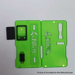 Kontrl V2 Kontrl Mag Style Front + Back Door Panel Plates w/ Button for dotMod dotAIO Pod System - Fluorescent Green, Acrylic
