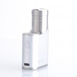 Authentic Vapefly Brunhilde SBS 100W Side by Side Vape Box Mod - Silver, VW 5~100W, 1 x 18650 / 20700 / 21700