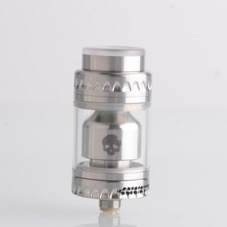 Authentic Dovpo Blotto Single Coil RTA Rebuildable Tank Vape Atomizer - Silver, 2.8ml / 5.0ml, 23.5mm
