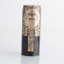 MK2 Special Brass Soon Integral Cipher Style Mechanical Mod - Black Gold, Brass + Delrin, 1 x 18650