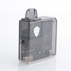 Authentic Rincoe Jellybox Nano Pod System Vape Mod Kit - Black Clear, 1000mAh, 2.8ml, 0.5ohm / 1.0ohm