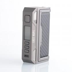 Authentic Lost Vape Thelema Quest 200W VW Box Mod - Gunmetal Carbon Fiber, 5~200W, 2 x 18650