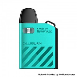 Authentic Uwell Caliburn AK2 15W Pod System Vape Starter Kit - Turquoise Blue, 520mAh, 2ml, 0.9ohm