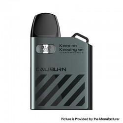 Authentic Uwell Caliburn AK2 15W Pod System Vape Starter Kit - Graphite Gray, 520mAh, 2ml, 0.9ohm