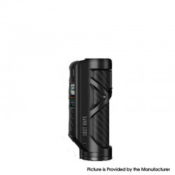 Authentic Lost Vape Cyborg Quest 100W TC VW Vape Box Mod - Matt Black Carbon Fiber, 5~100W, 1 x 18650 / 20700 / 21700