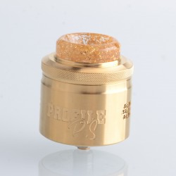 Authentic Wotofo & MR.JUSTRIGHT1 Profile PS Dual Mesh RDA Rebuildable Dripping Vape Atomizer - Gold, 28.5mm Diameter
