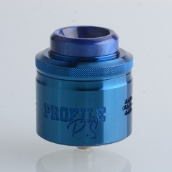 Authentic Wotofo & MR.JUSTRIGHT1 Profile PS Dual Mesh RDA Rebuildable Dripping Vape Atomizer - Blue, 28.5mm Diameter