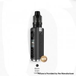 Authentic Lost Vape Grus V2 100W Box Mod Kit with UB Pro Pod - Black / Grain Leather, 5~100W, 1 x 18650 / 20700 / 21700, 5ml
