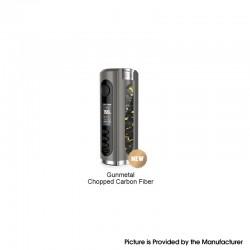 Authentic Lost Vape Grus V2 100W TC VW Vape Box Mod - Gunmetal / Chopped Carbon Fiber, 5~100W, 100~300'C, 1 x 18650/20700/21700