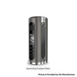 Authentic Lost Vape Grus V2 100W TC VW Vape Box Mod - Gunmetal / Carbon Fiber, 5~100W, 100~300'C, 1 x 18650 / 20700 / 21700