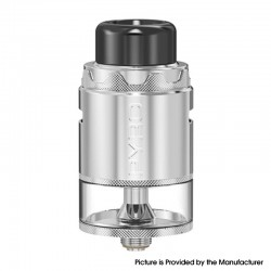 Authentic Vandy Vape Pyro V4 IV RDTA Rebuildable Dripping Tank Vape Atomizer - Stainless Steel, 5ml, SS + Glass, 25.5mm Diameter