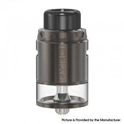 Authentic Vandy Vape Pyro V4 IV RDTA Rebuildable Dripping Tank Vape Atomizer - Gun Metal, 5ml, SS + Glass, 25.5mm Diameter