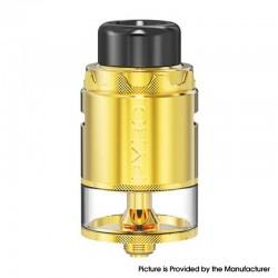 Authentic Vandy Vape Pyro V4 IV RDTA Rebuildable Dripping Tank Vape Atomizer - Gold, 5ml, SS + Glass, 25.5mm Diameter