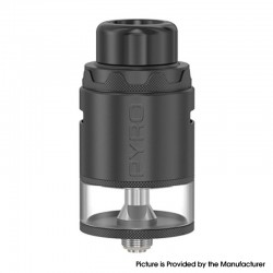 Authentic Vandy Vape Pyro V4 IV RDTA Rebuildable Dripping Tank Vape Atomizer - Matte Black, 5ml, SS + Glass, 25.5mm Diameter