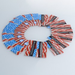 PVC Wrappers Skin Sticker for 20700 / 21700 Battery - 2017-Murica (20 PCS)