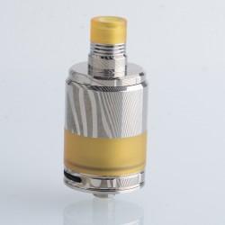 Authentic BD Vape Precisio Pro 24 RTA Damascus Limited Edition - Silver, 4.5ml, 24mm Diameter, MTL / RDL