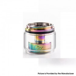 Authentic Yachtvape x Mike Vapes Eclipse RTA Replacement Extension Kit - Rainbow + Transparent, SS + Glass, (3.5ml / 5ml)