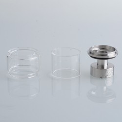 Authentic Yachtvape x Mike Vapes Eclipse RTA Replacement Extension Kit - Silver + Transparent, SS + Glass, (3.5ml / 5ml)