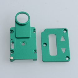 SXK Screen Plate + Button Plate Set for SXK BB 60W / 70W Box Mod Kit -Green, Aluminum Alloy (2 PCS)
