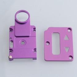 SXK Screen Plate + Button Plate Set for SXK BB 60W / 70W Box Mod Kit -Purple, Aluminum Alloy (2 PCS)