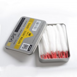 Authentic Exvape Expromizer V1.4 RTA Replacement Cotton Laces - (30 PCS)
