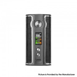 Authentic Pioneer4you iPV V200 200W VW Vape Box Mod - Black, 5~200W, 2 x 18650, YiHi SX531 chip