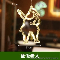 Suction Cup Santa Claus Christmas LED Window Hanging Lights Decoration Christmas Party Festive Lamp - Santa Claus, 3 x AAA
