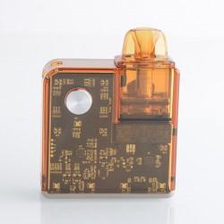 Authentic Rincoe Jellybox Nano Pod System Vape Mod Kit - Amber Clear, 1000mAh, 2.8ml, 0.5ohm / 1.0ohm