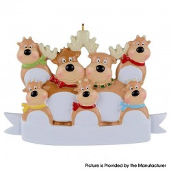 Cute Family Christmas Tree Personalized Ornament Family Holiday Decoration Christmas Ornament - Elk 7