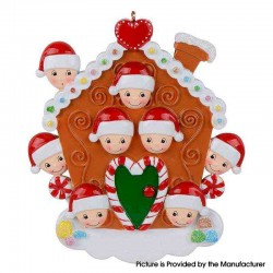 Cute Family Christmas Tree Personalized Ornament Family Holiday Decoration Christmas Ornament - Orange House 8