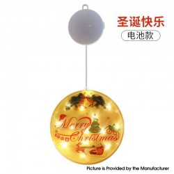 Santa Claus Christmas LED Window Hanging Warm White Light Decoration Party Festive Decorative Lamp - Merry Christmas, 3 x AAA