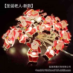 Warm Light LED String Light Lamp Christmas Tree Decoration - Santa Claus, 3 x AA, 20-LED, Copper Wire, 2 Meters, Fash Light