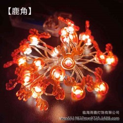 Warm Light LED String Light Lamp Christmas Tree Decoration - Deer Horn, 3 x AA, 20-LED, Copper Wire, 2 Meters, Fash Light