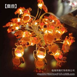 Warm Light LED String Light Lamp Christmas Tree Decoration - Elk, 3 x AA, 20-LED, Copper Wire, 2 Meters, Fash Light