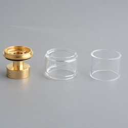 Authentic Yachtvape x Mike Vapes Eclipse RTA Replacement Extension Kit - Gold + Transparent, SS + Glass, (3.5ml / 5ml)