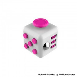 Decompression Magic Block Toy Adult Infant Infinite Finger Dice Cube - White + Deep Pink