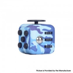 Decompression Magic Block Toy Adult Infant Infinite Finger Dice Cube - Camouflage Blue