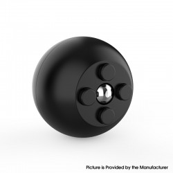 Decompression Button Ball Round Cube Hand Stand Handheld Games Educational Novelty Toy - Full Black