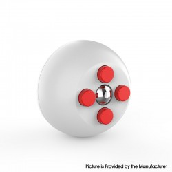 Decompression Button Ball Round Cube Hand Stand Handheld Games Educational Novelty Toy - White + Red