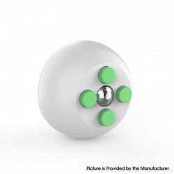 Decompression Button Ball Round Cube Hand Stand Handheld Games Educational Novelty Toy - White + Green