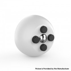 Decompression Button Ball Round Cube Hand Stand Handheld Games Educational Novelty Toy - White + Black