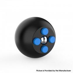 Decompression Button Ball Round Cube Hand Stand Handheld Games Educational Novelty Toy - Black + Blue