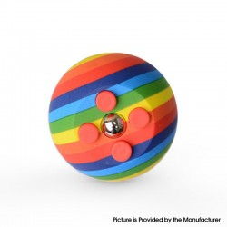 Decompression Button Ball Round Cube Hand Stand Handheld Games Educational Novelty Toy - Rainbow