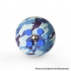 Decompression Button Ball Round Cube Hand Stand Handheld Games Educational Novelty Toy - Camouflage Blue