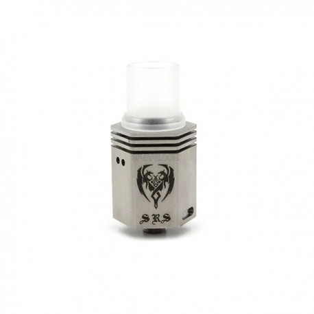 Moloon Style Hexagonal RDA Rebuildable Dripping Atomizer - Silver, Stainless Steel