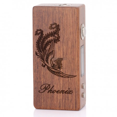 Phoenix 30W VW Variable Wattage APV Box Mod - Red Brown, Rosewood, 2~30W, 2 x 18650