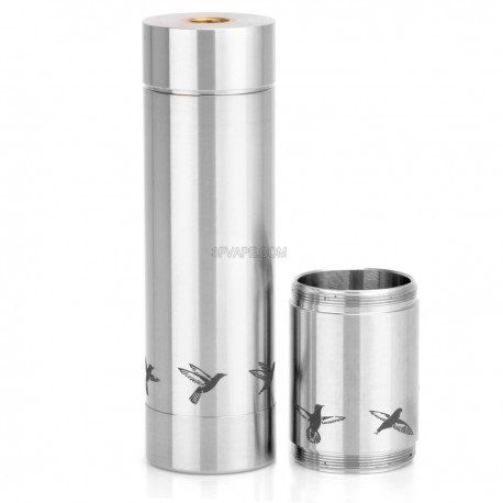 Colibri Style Mechanical Mod - Silver, 316 Stainless Steel, 1 x 18350 / 18650