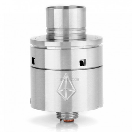 Chrysalis Style RDA Rebuildable Dripping Atomizer - Silver, Stainless Steel, 22mm Diameter