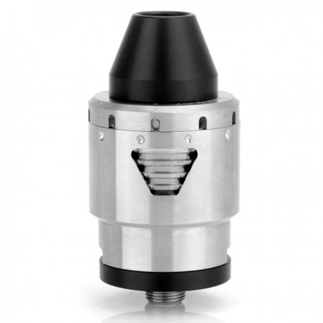 Bunker Style RDA Rebuildable Dripping Atomizer - Silver, Stainless Steel, 22mm Diameter