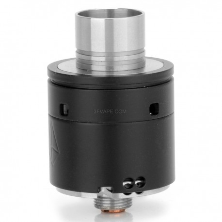 Chrysalis Style RDA Rebuildable Dripping Atomizer - Black, Stainless Steel, 22mm Diameter